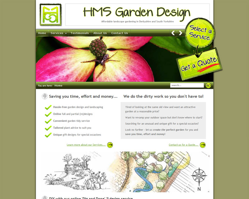 Preview. HMS Garden Design   Website ...