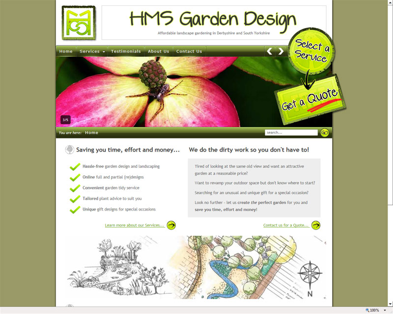 Garden Design Website - Zandalus.Net